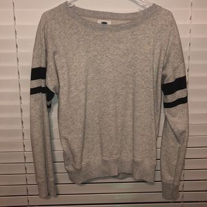 Old Navy Black and White Crewneck